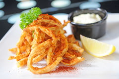 Seafood - fried Squid Stock Photography