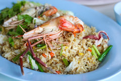Seafood Fry Rice Stock Images