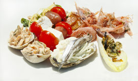 The seafood for gourmet Royalty Free Stock Image