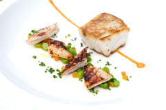 Seafood gourmet plate royalty free stock photography