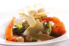 Seafood gourmet salad with shrimps Royalty Free Stock Photos