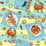 Seafood Grill background Stock Photography