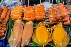 Seafood grill Royalty Free Stock Photos