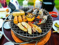 Seafood Grill. Royalty Free Stock Image