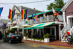 The Seafood Grille, Commercial Street, Provincetown, MA. Stock Image