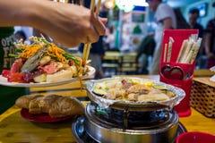 Seafood in Hanoi Bia Hoi corner in Vietnam. Seafood in Hanoi Bia Hoi cornerin Vietnam stock photos