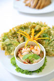Seafood herb salad Stock Images