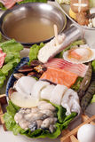 Seafood hot pot Royalty Free Stock Photo