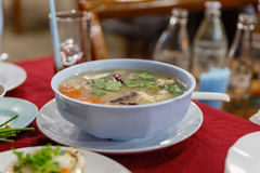 Seafood Hot and Sour Thai Soup.  Royalty Free Stock Photo