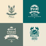 Seafood icon set Royalty Free Stock Photos