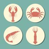 Seafood icon set Stock Photo