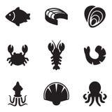 Seafood Icons Stock Image