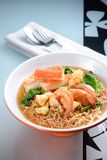 Seafood Instant Noodle Royalty Free Stock Photography