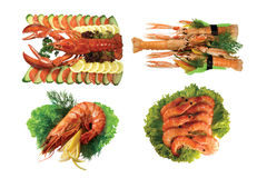 Seafood isolated Royalty Free Stock Images