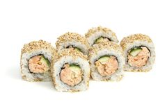 Seafood - isolated rolls stock photography