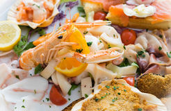 Seafood. Italian delicious mix of seafood Royalty Free Stock Image