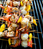 Seafood Kabobs Royalty Free Stock Images