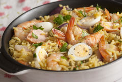 Seafood kedgeree Stock Photo