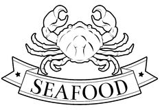 Seafood label Stock Image