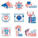 Seafood label Stock Images