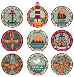 Seafood. Labels, icons, badges template set royalty free illustration