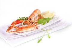 Seafood. Langoustine. Royalty Free Stock Photography