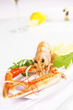 Seafood. Langoustine. Royalty Free Stock Photos