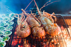 Seafood Lobster barbecue Stock Photography