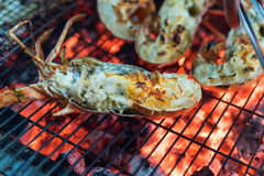 Seafood Lobster barbecue Royalty Free Stock Photography