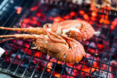 Seafood Lobster barbecue Royalty Free Stock Images
