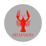 Seafood, lobster icon  Royalty Free Stock Image