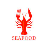Seafood, lobster icon  Stock Images