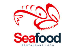 Seafood Logo Royalty Free Stock Photo