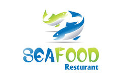 Seafood Logo Design stock illustration