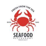 Seafood logo design Stock Photos