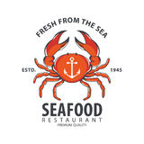 Seafood logo design Royalty Free Stock Images