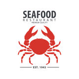 Seafood logo design Stock Images