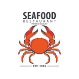 Seafood logo design. Modern logo, vintage logo, modern logo Royalty Free Stock Photo