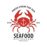 Seafood logo design Stock Image
