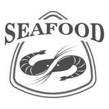 Seafood logo design template Royalty Free Stock Photos