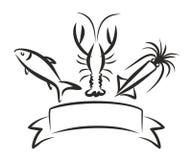 Seafood logo. Stock Image