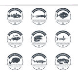 Seafood logos template Royalty Free Stock Image