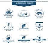 Seafood logos template Stock Photos
