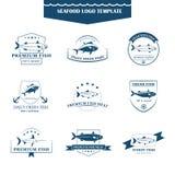 Seafood logos template Stock Photography