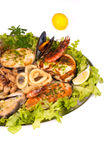 Seafood main coruse Royalty Free Stock Images