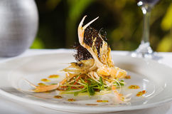 Seafood main course with Scampi Royalty Free Stock Photography