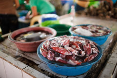 Seafood market Royalty Free Stock Image