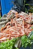 Seafood on market Royalty Free Stock Images