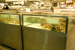 Seafood market stock photography