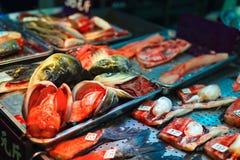 Seafood market Royalty Free Stock Image
